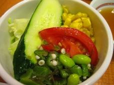 利尻マリンホテル 夕食 先附け:野菜サラダ