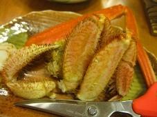 利尻マリンホテル 夕食 皿物:毛蟹
