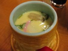 利尻マリンホテル 夕食 蒸し物:茶碗蒸し