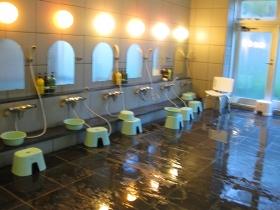 『利尻マリンホテル』浴場 洗い場