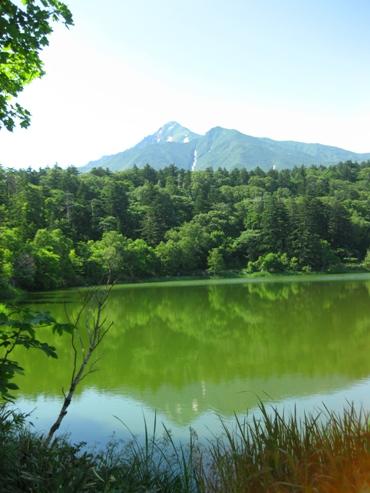 利尻島 姫沼の逆さ富士