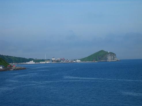 利尻島 野塚展望台から見たぺシ岬