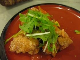 糠平温泉・糠平舘観光ホテル/夕食 揚げもの:鶏から揚げ