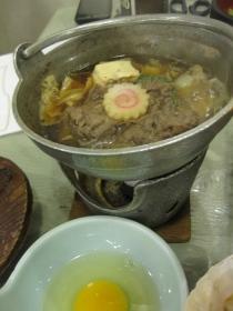糠平温泉・糠平舘観光ホテル/夕食 鍋物:すき焼き