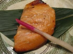 養老牛温泉「湯宿だいいち」/夕食 焼き物:桜鱒の西京焼き