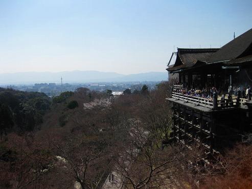清水の舞台と京都市街