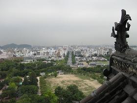 姫路城 天守閣からの眺め