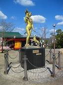 広島観光/広島県尾道/千光寺山ロープウェイ山頂・あけぼの像