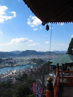 広島観光/広島県尾道/千光寺公園・千光寺 本堂からの眺め