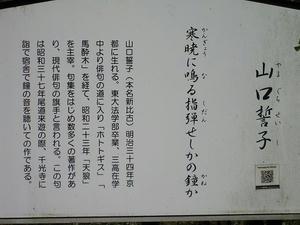 広島観光/広島県尾道/千光寺公園・文学のこみち・山口誓子