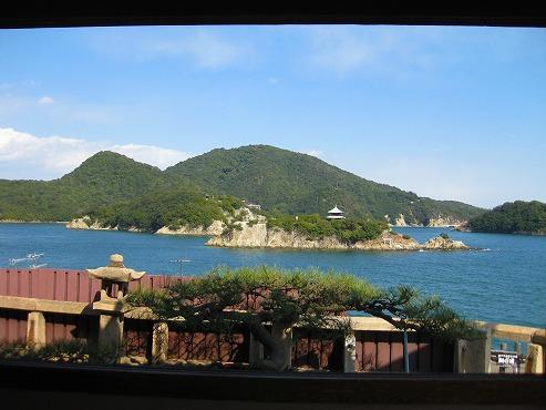広島観光/広島県 鞆の浦/対潮楼 福禅寺の客殿から見る風景