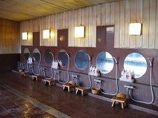 広島県 鞆の浦/仙酔島 江戸風呂体験!展望風呂 洗い場