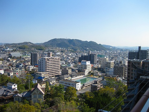 広島県 福山/福山城(展望台眺め)