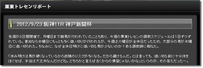 9月23日 阪神11R 神戸新聞杯