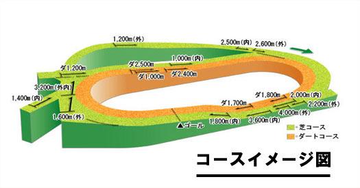 中山競馬場コースイメージ図