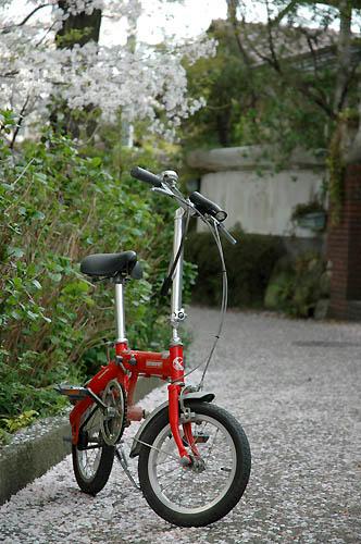 私の赤い自転車