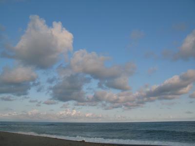 雲と海の写真