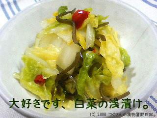 白菜の浅漬け。
