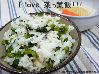 蕪の葉の菜飯♪