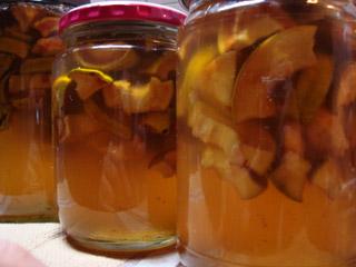 花梨の蜂蜜漬け。
