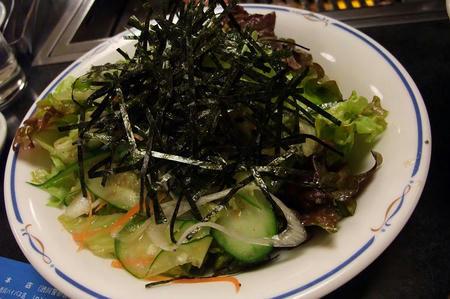 焼肉レストラン あおぞら 和風サラダ