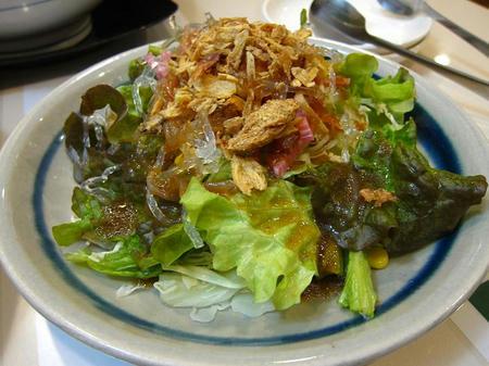 中華 いちとら 海水晶のサラダ