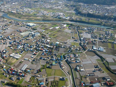 渋川市小野子上空