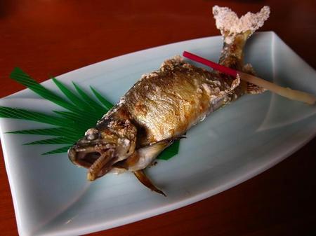 お食事処 たちき(樹) 鮎塩焼き