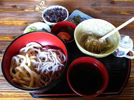 和利の家 二色麺 そばかきセット