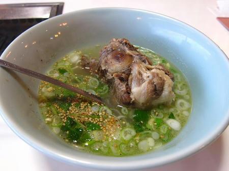 忠央食堂 テールスープ