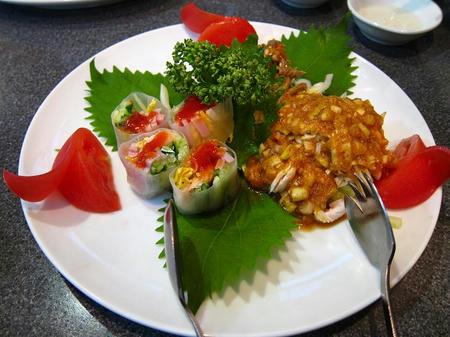 中華料理 四川 三種類冷彩料理