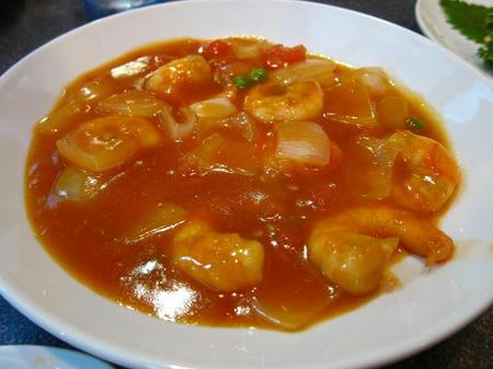 中華料理 四川 芝海老のトマトソース炒め煮