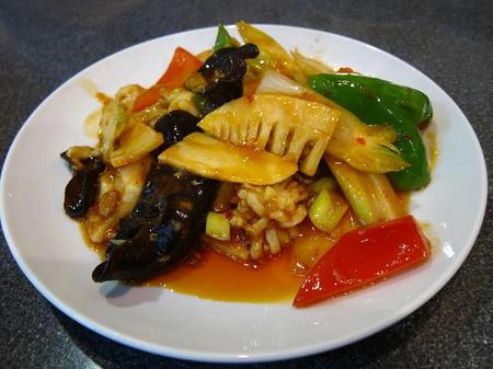 中華料理 四川 いかと野菜の中国家庭風炒め
