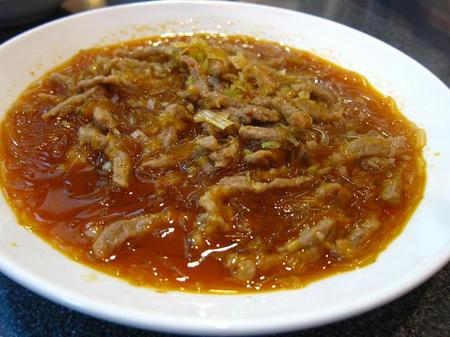 中華料理 四川 牛肉と春雨の辛子炒め