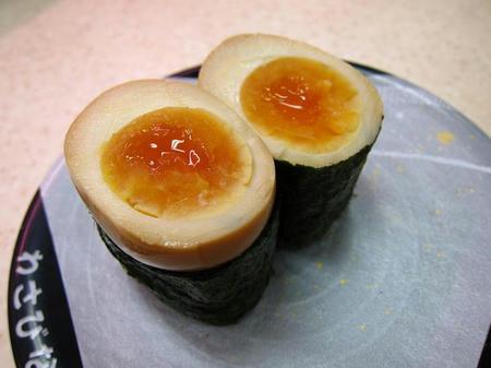北陸富山回転寿司 かいおう 味玉軍艦