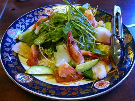鶴亀庵 海鮮サラダ