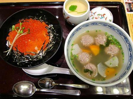 和食レストラン とんでん いくらづくし丼 茶碗蒸し付き