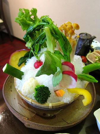 茶寮 さいばし 野菜の籠盛り