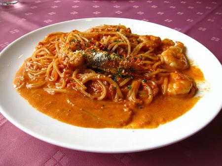 安心食材グラツィエ 海老のトマトクリーム スパゲティー