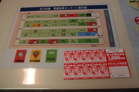 古川市場 のっけ丼 青森魚菜センター本店
