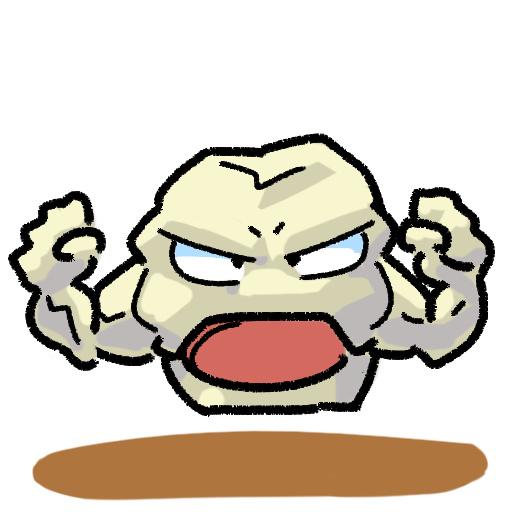 nintendo gameboy poket monster pokemon red blue gleen  Geodude