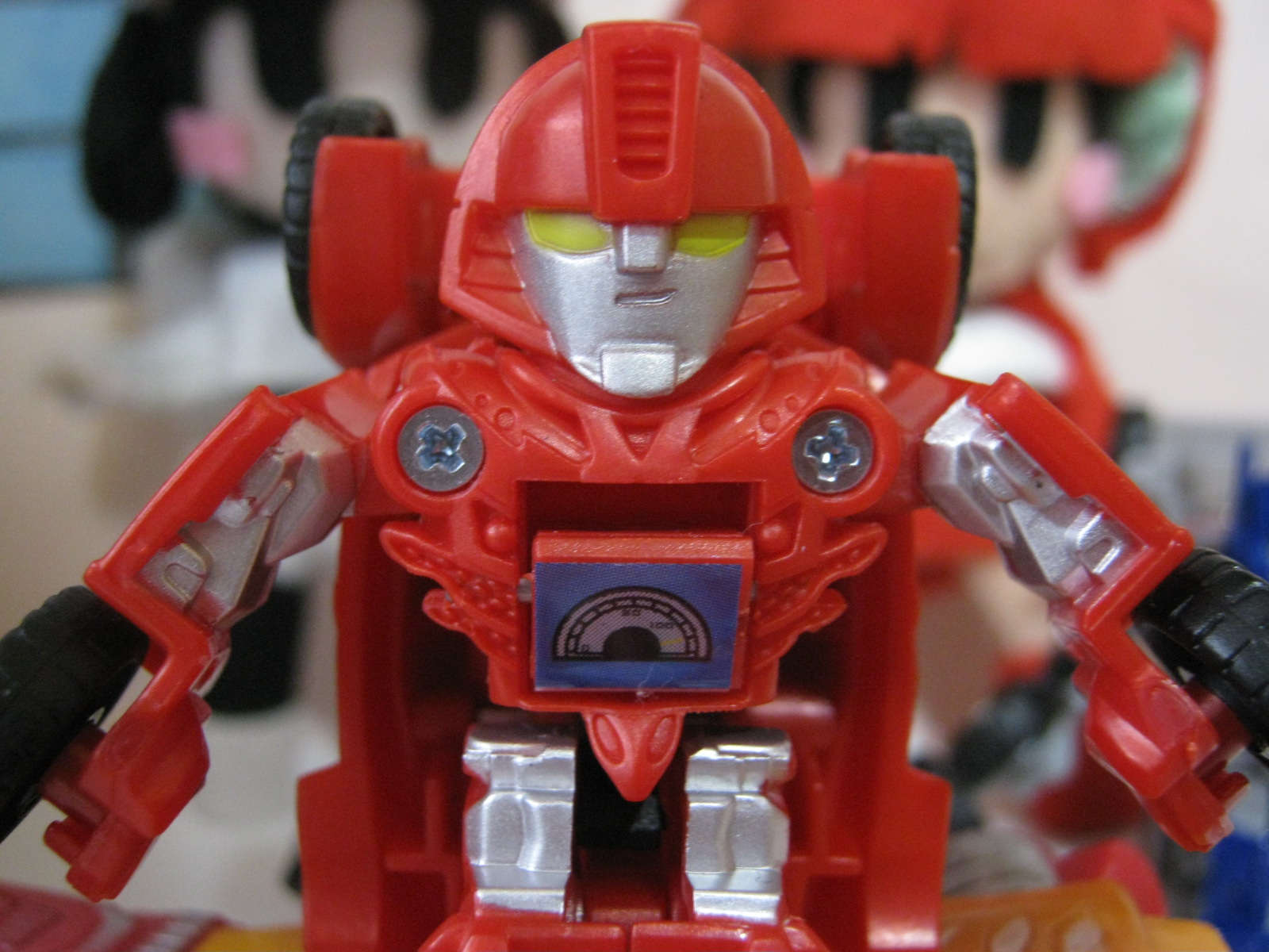 transformers takara tomy toy Be cool japan bot shots red mirage face メーター