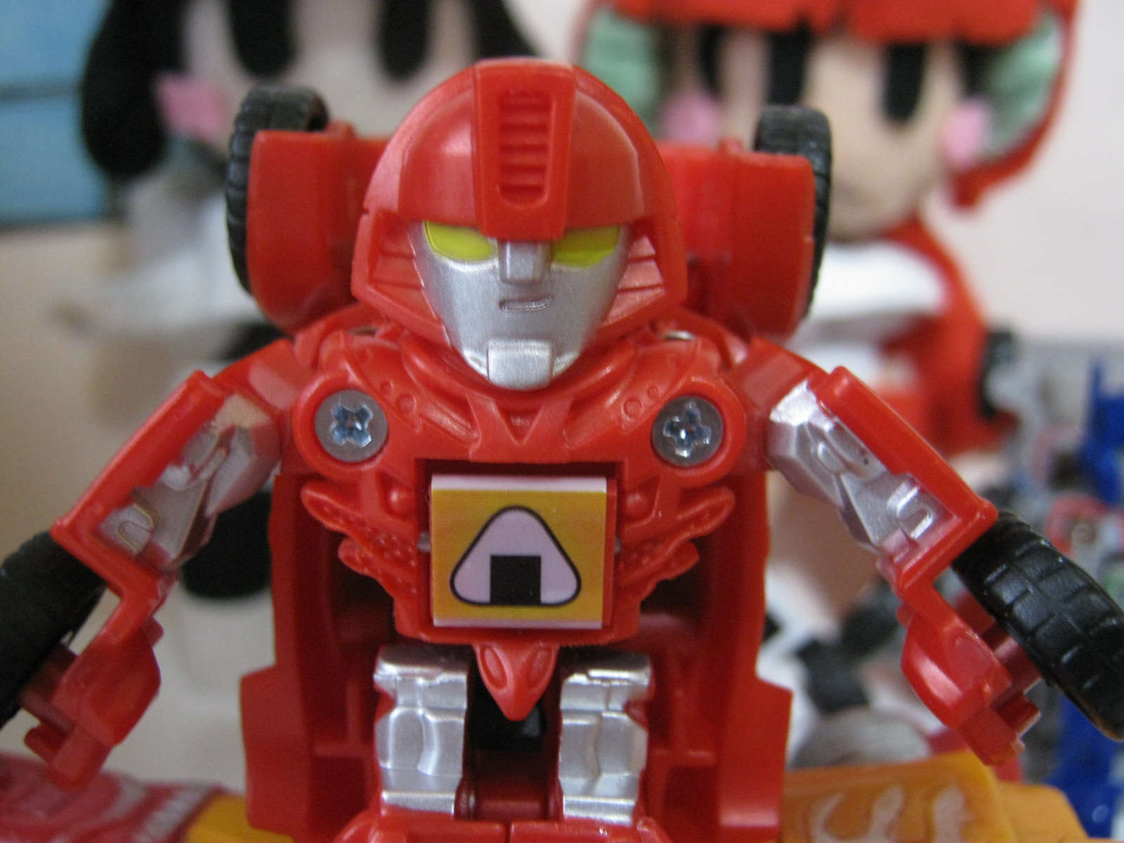 transformers takara tomy toy Be cool japan bot shots red mirage face おにぎり
