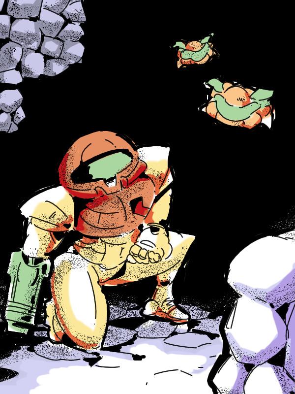 nintendo game gameboy metroid2 samus aran retrogame Mumbo SR388 Metroid II: Return of Samus