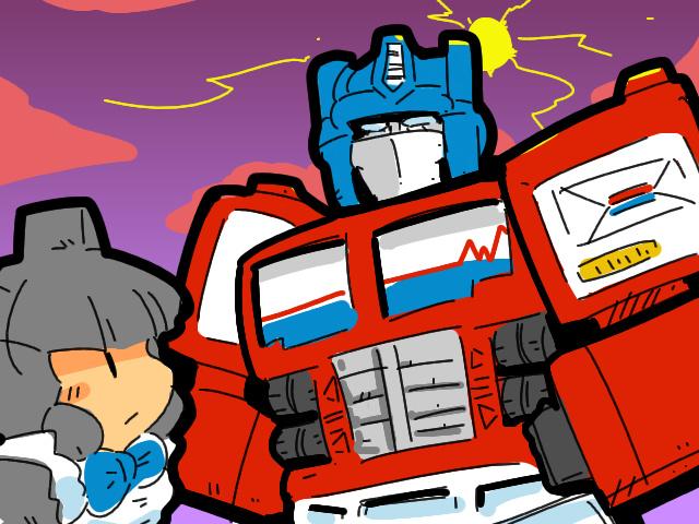 Transformers: optimus prime generation2 jazz hasbro takara toy robot girl petenders humanized gijinka maid