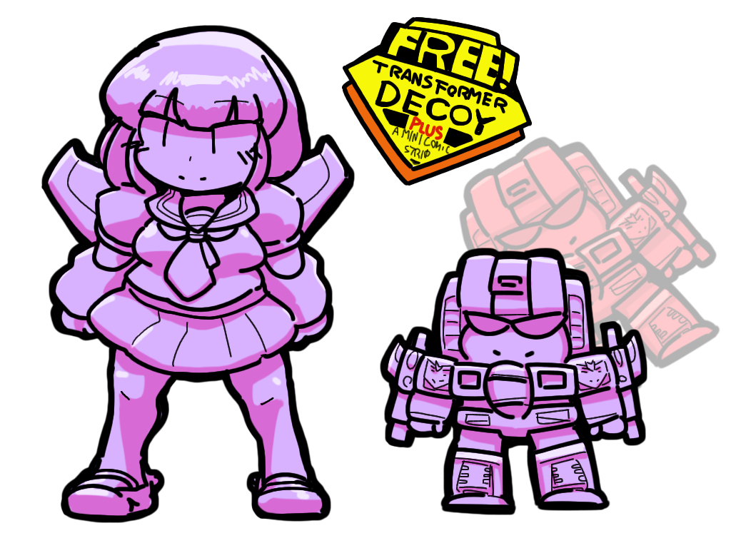 Transformers Generation1 Decoy Starscream Pretenders Humanized Gijinka Robot girl Holomatter Avatars