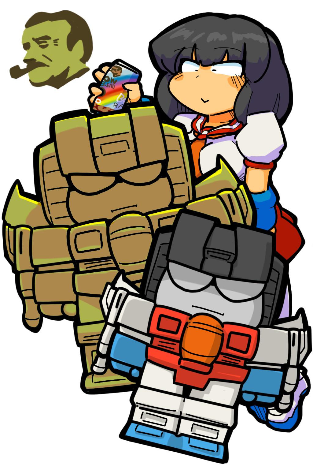 Transformers Generation1 BOSS santory Starscream Pretenders Humanized Gijinka Robot girl Holomatter Avatars schoolgirl