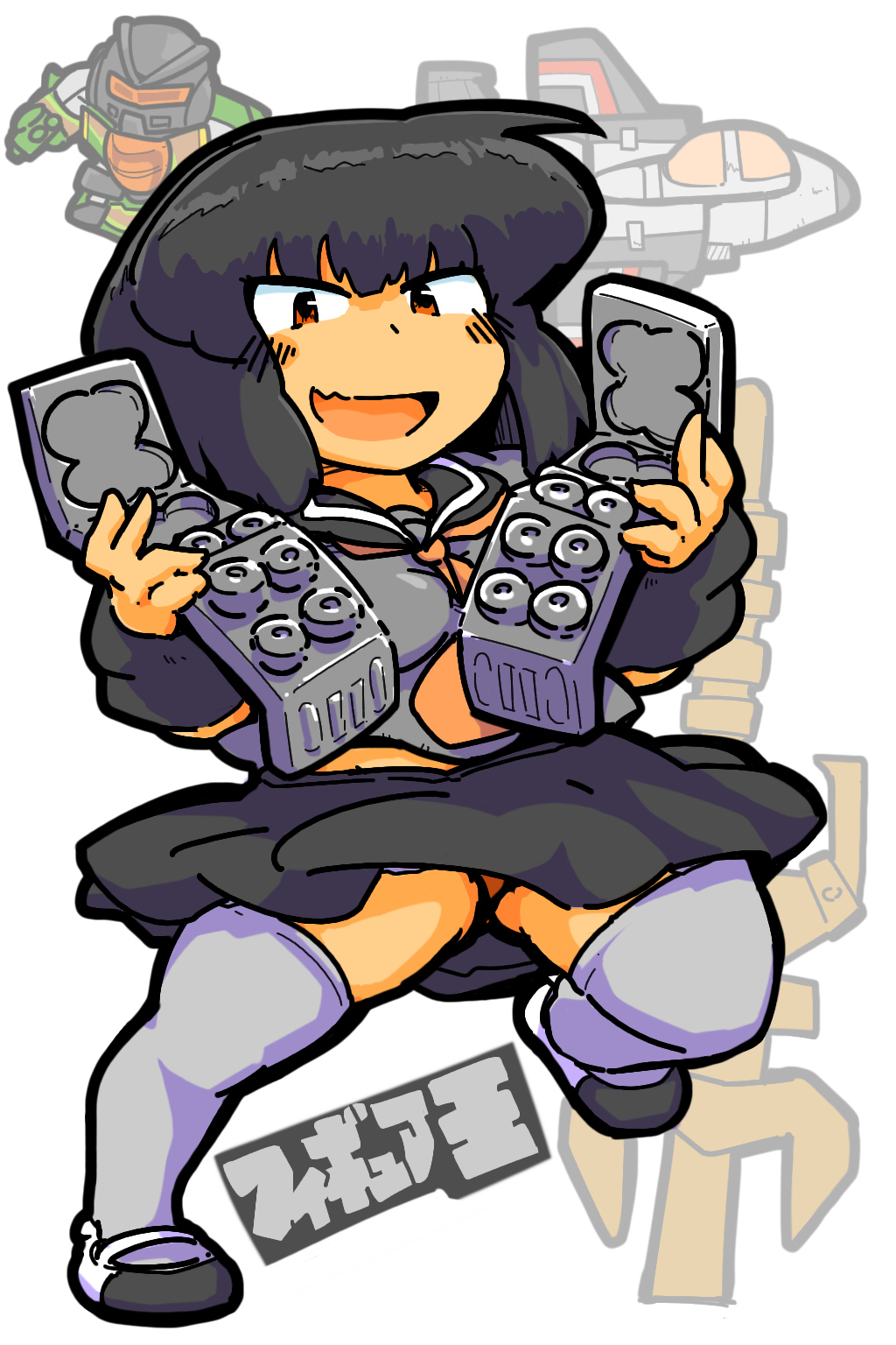 transformers generation1 Limited Black Version starscream pretenders humanized gijinka robot girl Holomatter Avatars robotmasters takara