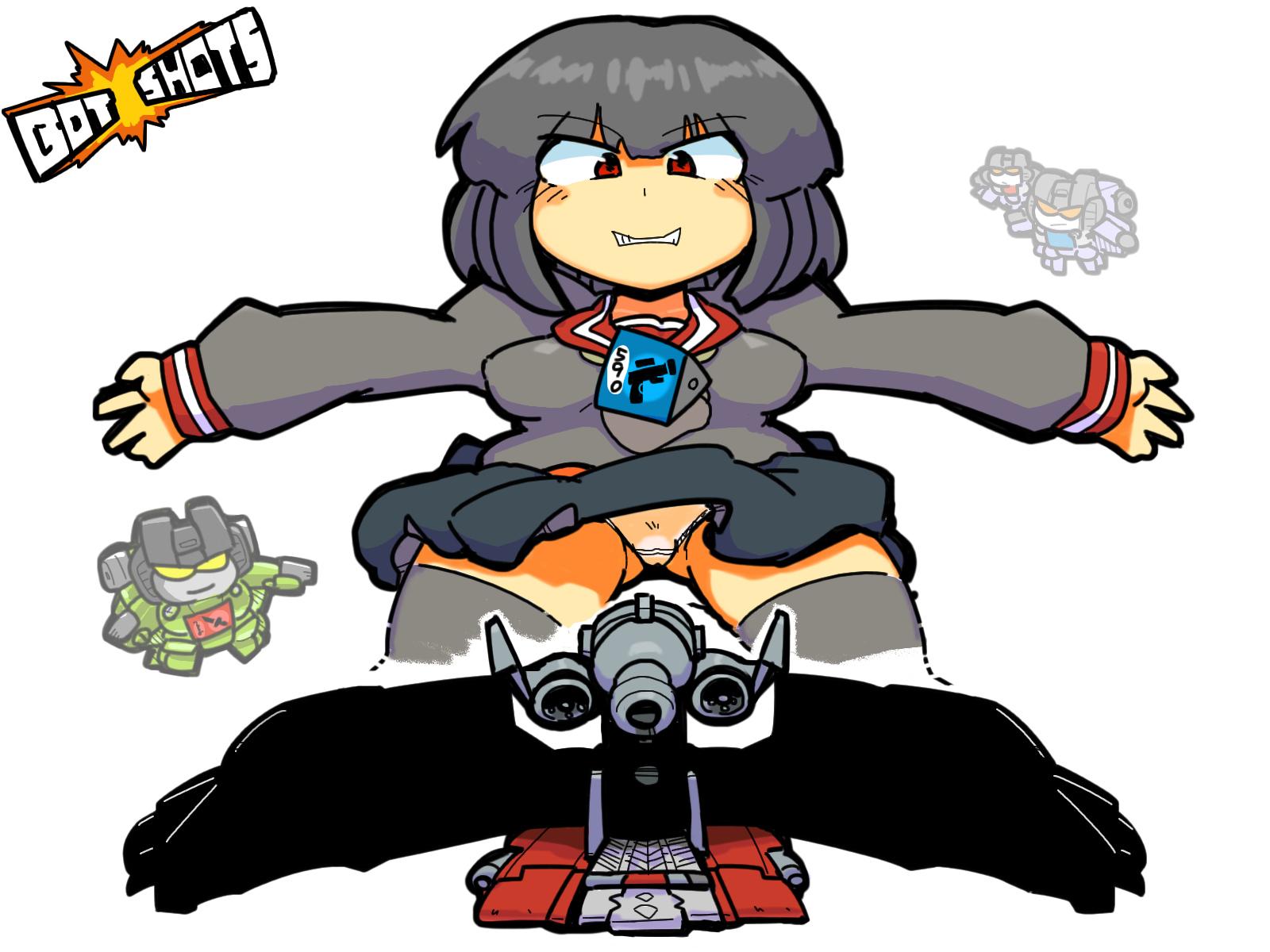 Transformers Generation1 Bot Shots Starscream Seeker Launcher Pretenders Humanized Gijinka Robot girl Holomatter Avatars