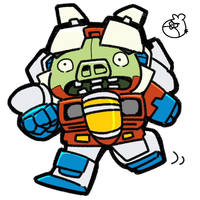 Angry Birds Transformers Starscream Pig